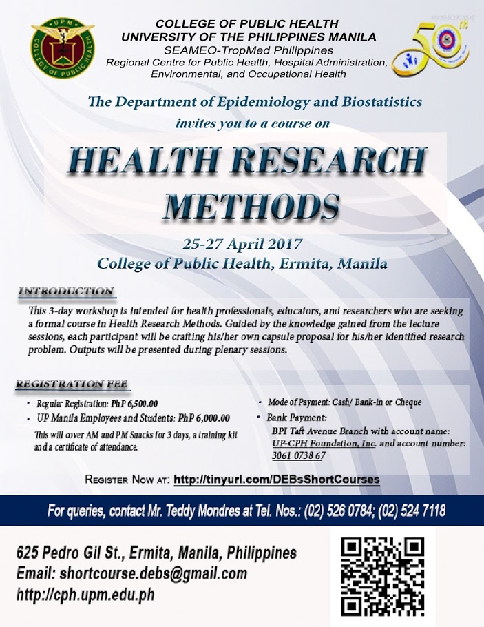 research methodology in healthcare Agency for healthcare research and quality 5600 fishers lane rockville, md 20857 telephone: (301) 427-1364.