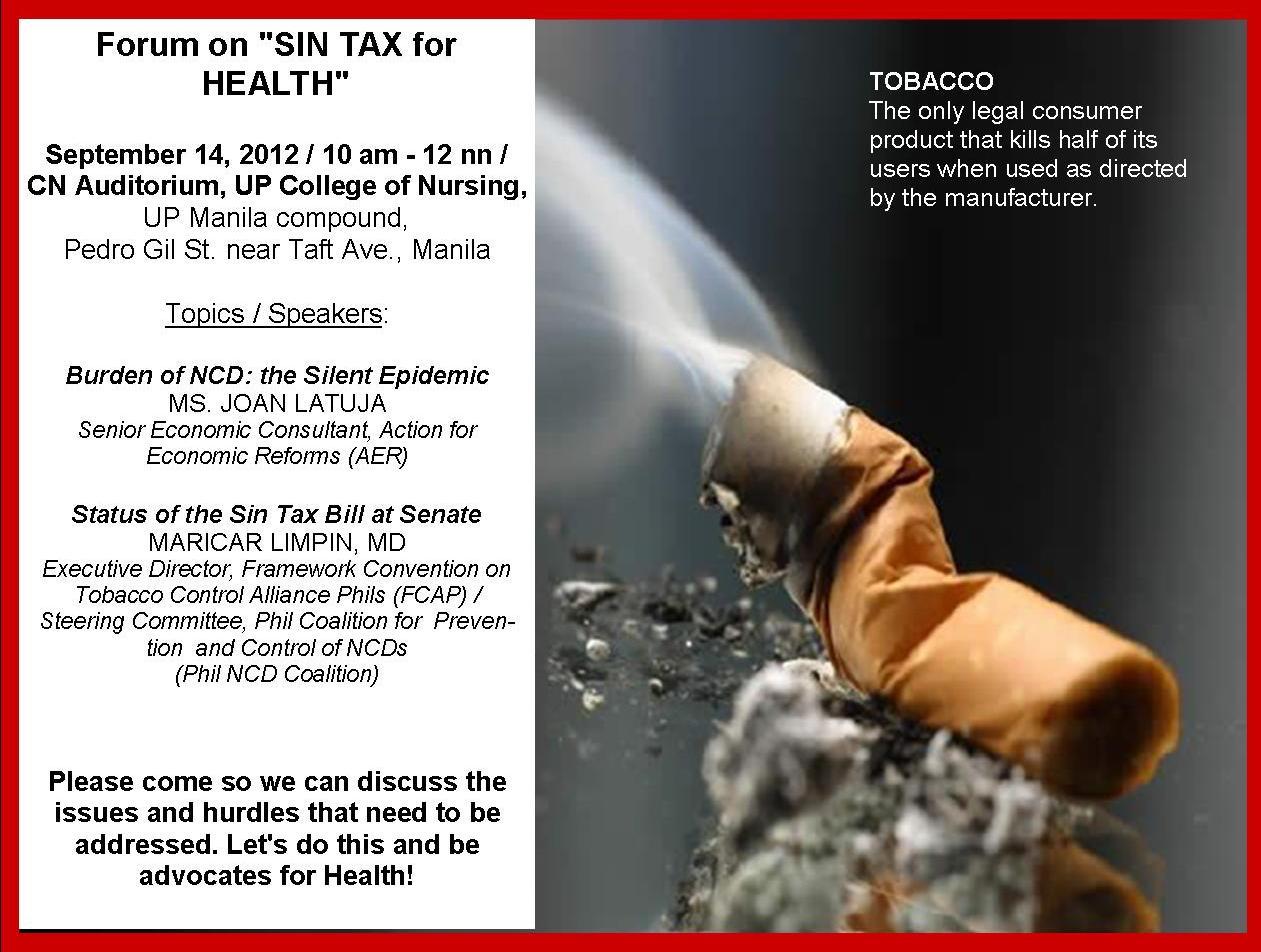 the sin tax bill how its